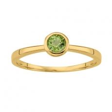 Ring runde Fassung Ø6mm Peridot 333/ Gelbgold