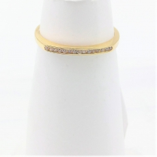 Antragsring mit Zirkonia 585/-Gelbgold, 1,7mm breit