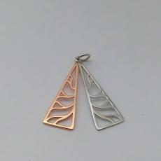 Anhänger doppelte Dreiecke silber/rosé Silber 925/-