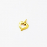 Anhänger Herz, matt, poliert, offen 333/- Gold