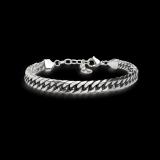 Armband geschwärzt 19-23cm Edelstahl