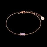 Armband Mitte eckiger rosa Zirkonia 3,5x7,5 925/ rosé