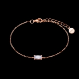 Armband Mitte eckiger weißer Zirkonia 3,5x7,5 925/ rosé