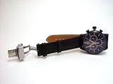 Bruno Söhnle Herrenuhr Chronograph Midas,schwarzes Lederband, Saphirglas, Ø46mm