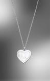 Kette Anker Anhänger Herz mit Perlmutt, Silber 925/-