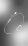 Armband mit Herz offen,Zirkonia, Silber 925/-