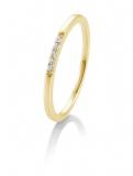 Brillant Ring Mehrsteiner 585 Gelbgold