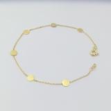 Armkette Anker mit Kreisen, 585/- Gelbgold, Länge 18+1