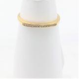 Damenring Band Zirkonia 585/-Gelbgold