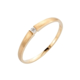 Antragsring Gelbgold 585/- , Brill.0,03ct H-si