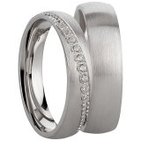 Ring Silber 925/- rhodiniert Längsschliff