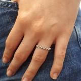 Ring Kugeloptik Weißgold 585
