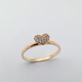 Ring mit Herz Zirkonia, 585/-Roségold