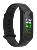 MAREA Smartwatch mit schwarzem Kautschukband