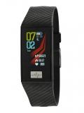 MAREA Smartwatch schwarzes Kautschukband