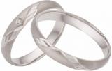 Damenring Silber matt/poliert ZikZak Muster, 1 Zirkonia , 3,5mm breit