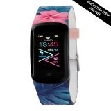 MAREA Smartwatch eckig, buntes Kautschukband